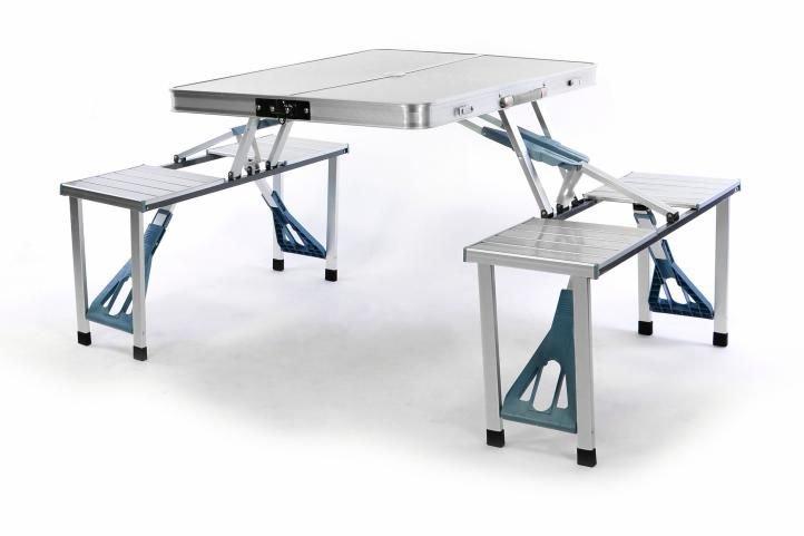 e891b931c7844 Skladací hliníkový stôl v kufríku a lavicami - Termohrnček.sk
